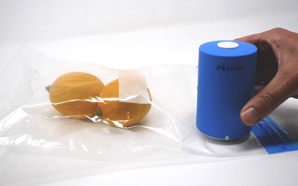 Step2:袋の青い丸の部分にPiccolaをセットする